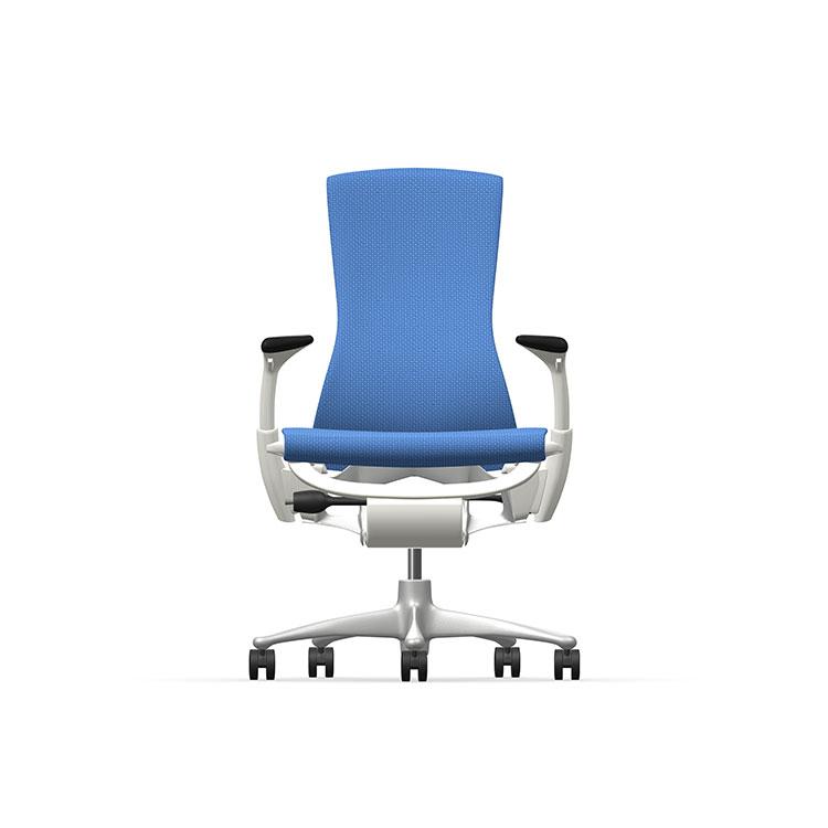 Herman Miller Embody - Business - White Titanium - Balance Berry Blue