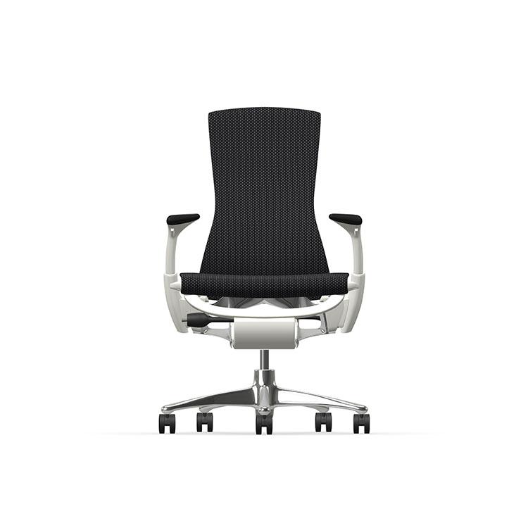 Herman Miller Embody - Luxury - White Aluminium - Balance Black