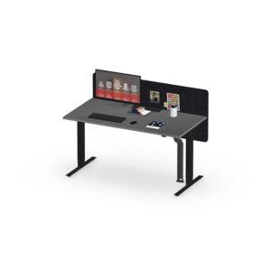 Herman Miller Nevi sit-stand desk - Business - Black - 1600mm Graphite - Screen
