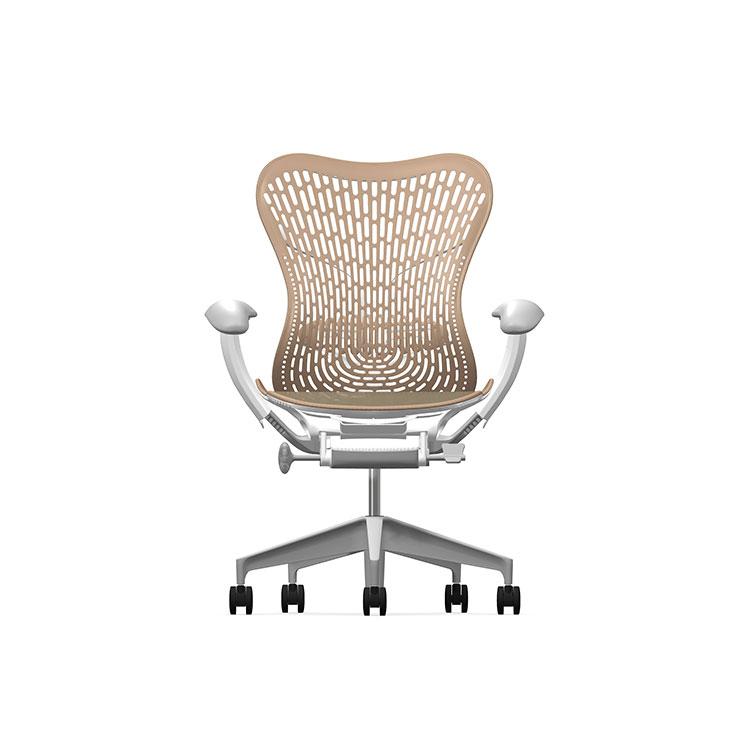 Herman Miller Mirra2 - Business - Studio White Fog Cappuccino - TriFlex