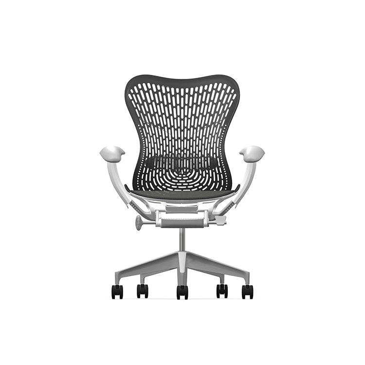Herman Miller Mirra2 - Business - Studio White Fog Dark Turquoise - TriFlex