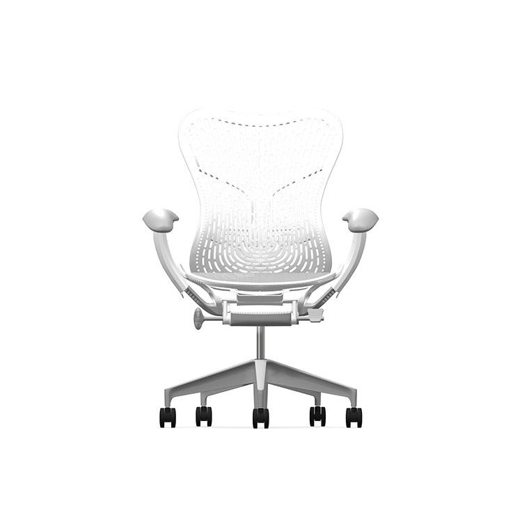 Herman Miller Mirra2 - Business - Studio White Fog Studio White Alpine - TriFlex