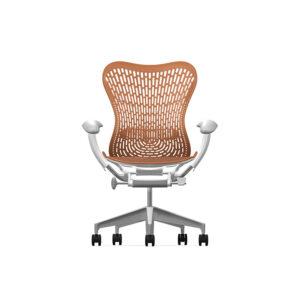 Herman Miller Mirra2 - Business - Studio White Fog Urban Orange - TriFlex