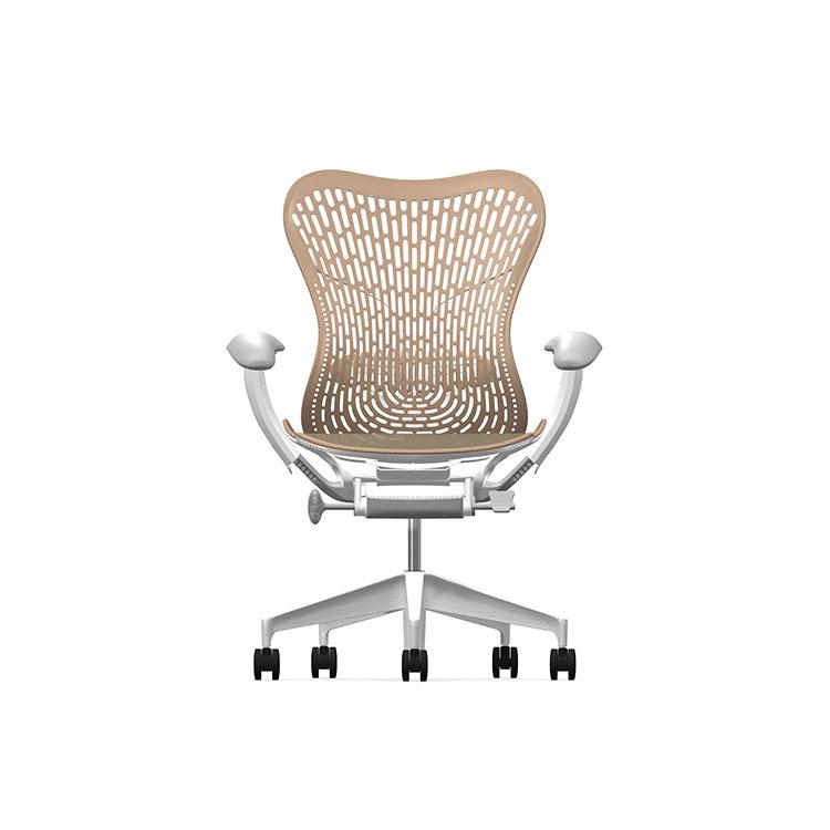 Herman Miller Mirra2 - Luxury - Studio White H-Alloy Cappucinno - TriFlex