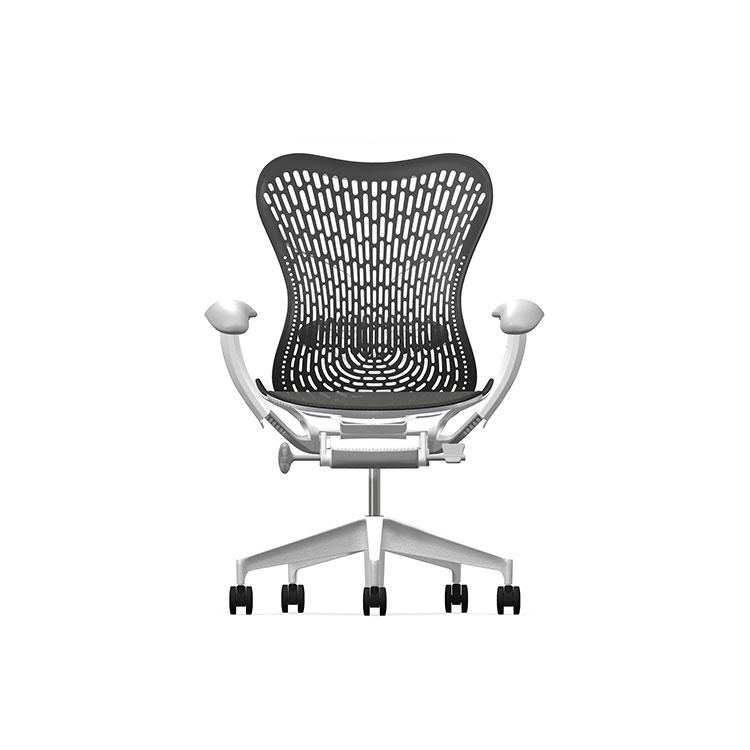 Herman Miller Mirra2 - Luxury - Studio White H-Alloy Graphite - TriFlex