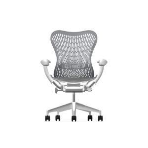 Herman Miller Mirra2 - Luxury - Studio White H-Alloy Slate Grey - TriFlex