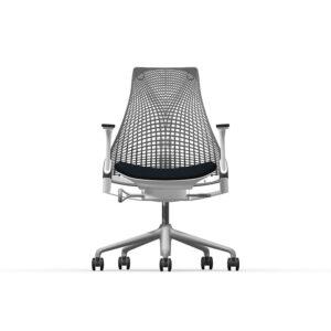 Herman Miller Sayl - Business - Studio White - Phoenix Havana - Slate Grey Net