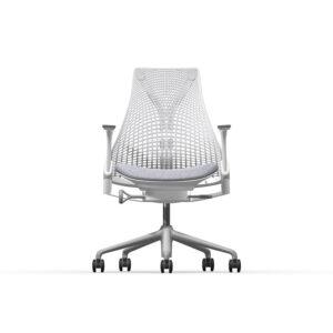 Herman Miller Sayl - Business - Studio White - Blazer Silverdale - Fog Net